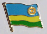 Rwanda Country Flag Enamel Pin Badge